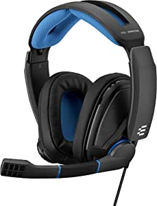 Sennheiser GSP 300 Around Ear Closed Acoustic Gaming Headset - Black/Blue (Pack of 1), 507079