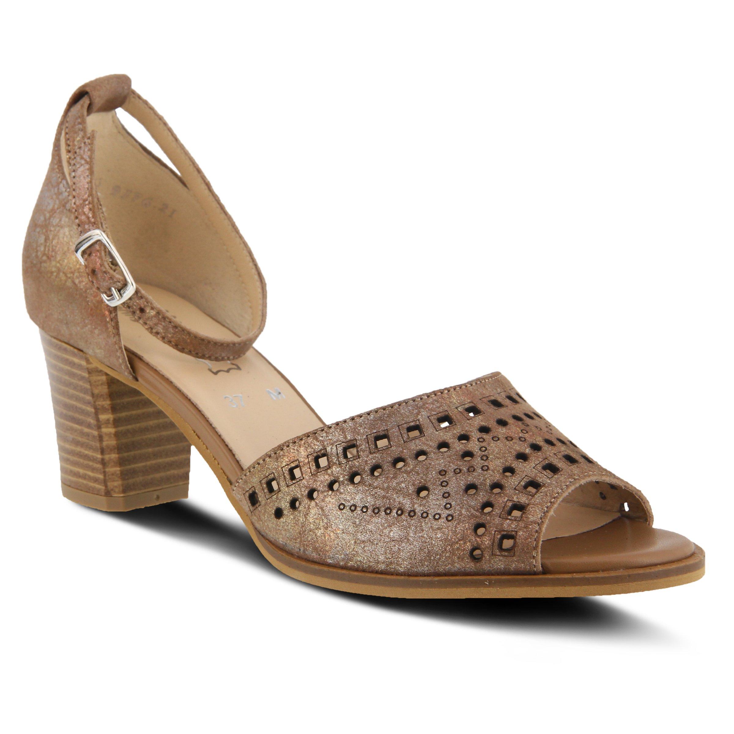 Spring Step Women's Style Kanisha Brown EURO Size 38 Leather Mary Jane Sandal
