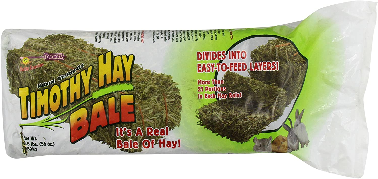F.M. Brown'S Falfa Cravins Timothy Hay Bale, 56-Ounce