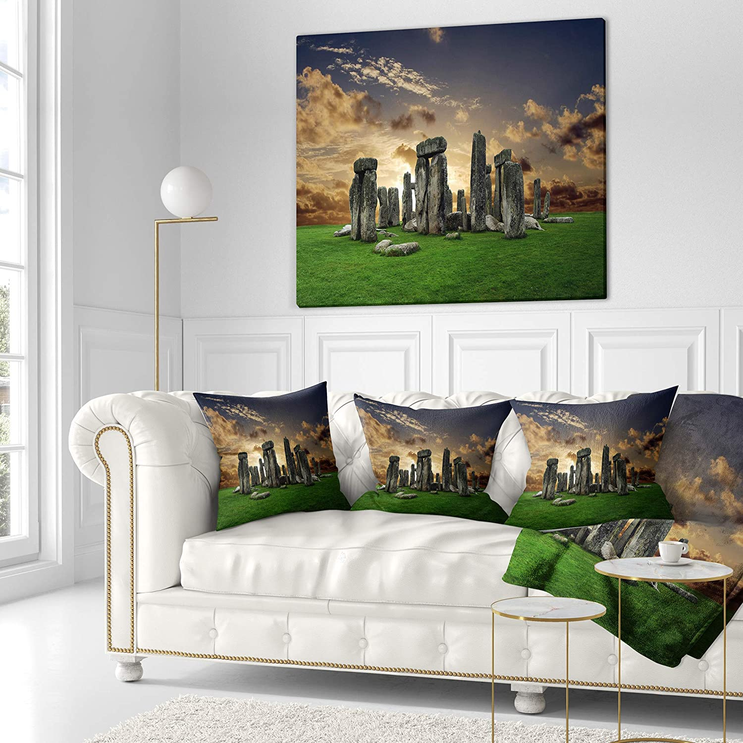 x 26 in Sofa Throw Pillow 26 in Designart CU6820-26-26 Stonehenge Landscape Photography Cushion Cover for Living Room in Insert Printed On Both Side