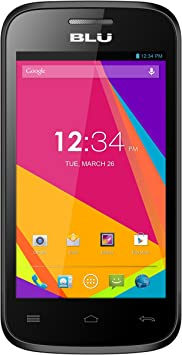 BLU Dash JR 4.0 K Smartphone - Desbloqueado - Negro: Amazon ...
