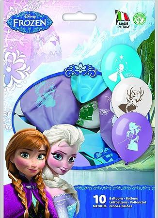 Siad - Juego Colores Disney Frozen 10 globos, multicolor ...