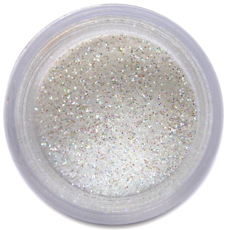 Super White Craft Glitter Dust | Shiny White Glitter | Decoration Dust for Cake Accessories, DIY Crafting | Glitter Dust for Decoration | Brillantina | Sunflower Sugar Art