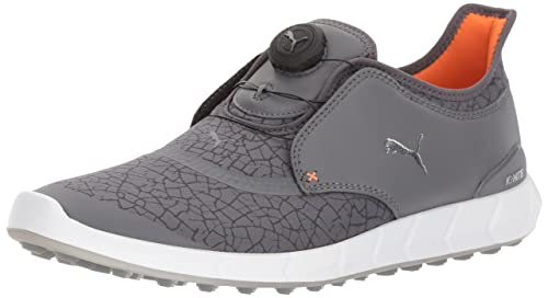 PUMA Golf Men's Ignite Disc Extreme Golf Shoe, Smoked Pearl/Silver/Dark Shadow, 11 M US