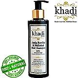 Khadi Global Amla Reetha Shikakai Shampoo 200ml / 6.76 fl.oz   Ayurvedic, Natural & Safe   Originated in INDIA   Strengthen Hair Roots, Maintains Healthy Scalp, Helps Hair Growth, Reduce Hairfall