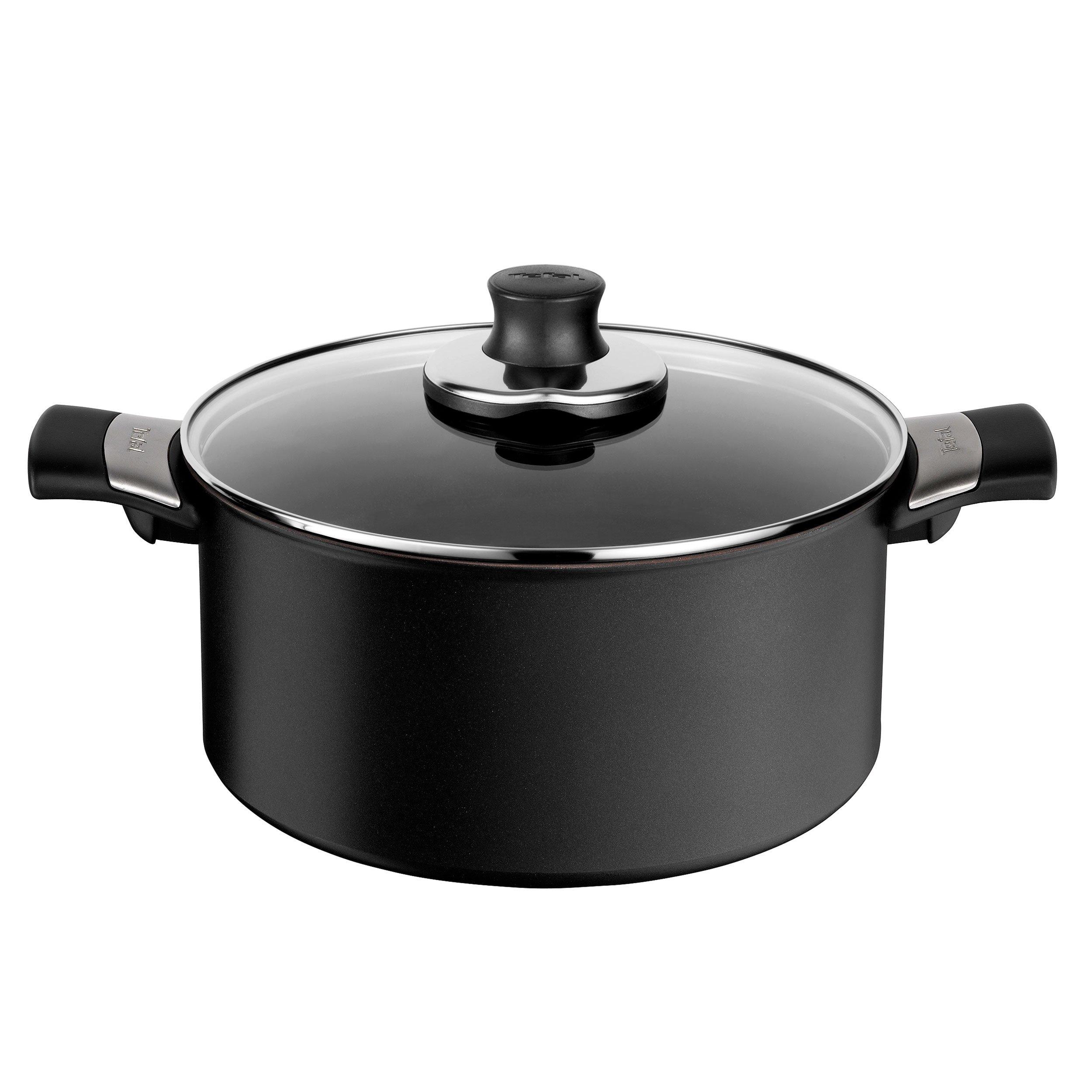 Cast Aluminium Black 24 cm Tefal Cooking Pot