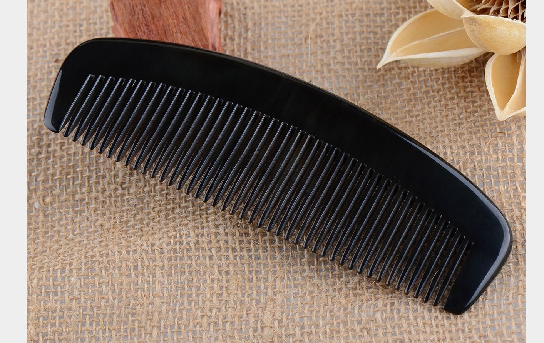Meta-C Natural Handmade Buffalo Horn Comb (Standard tooth)
