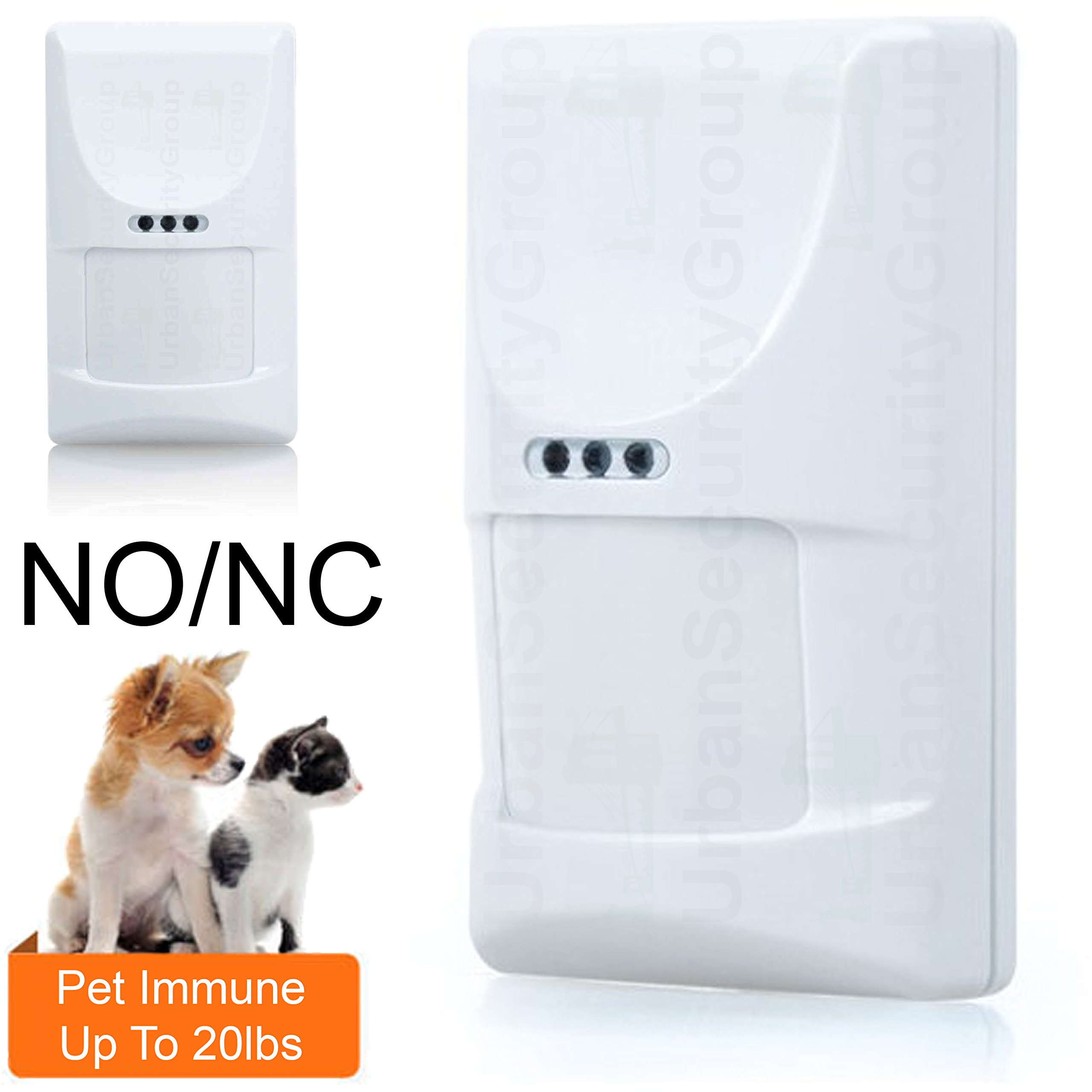 "USG Wired Motion Detector Alarm Motion Sensor : Pet Immune Up To 20lbs / 16"": Normally Open or Normally Close : 9-16V DC : 12m x 12m 110° Coverage @ 88°F"