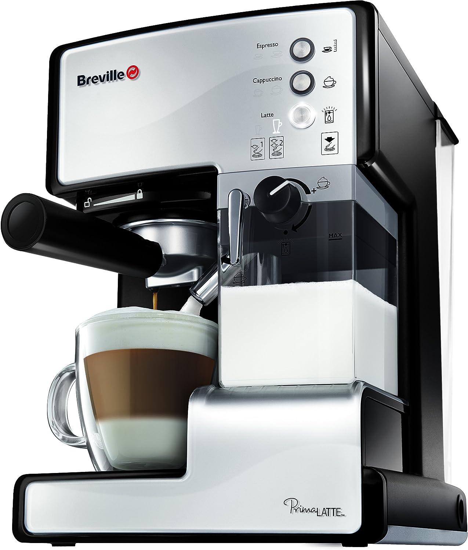 Breville VCF045X - Cafetera de expreso, color blanco y negro ...