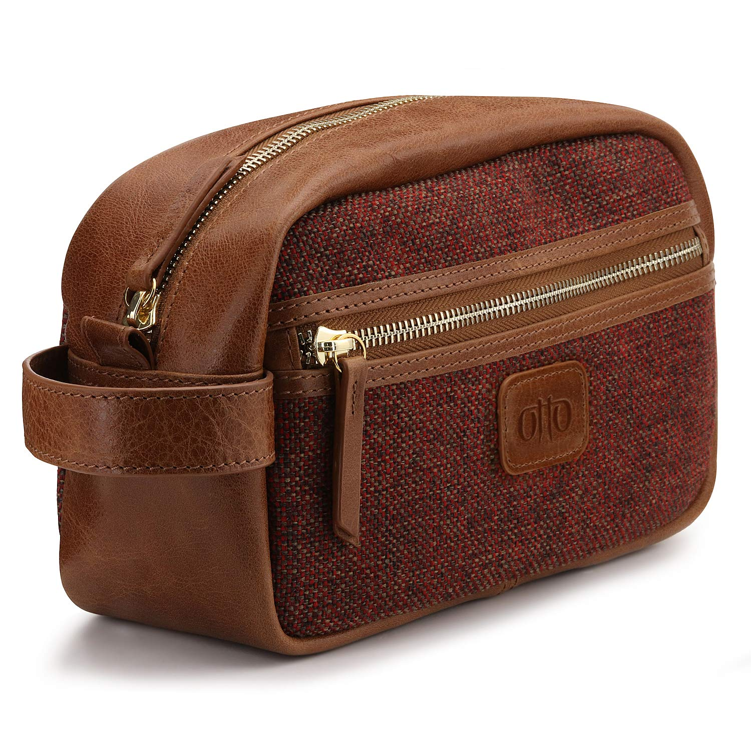 7f9d6bfe9a90 Amazon.com   Otto Leather Genuine Leather Travel Toiletry
