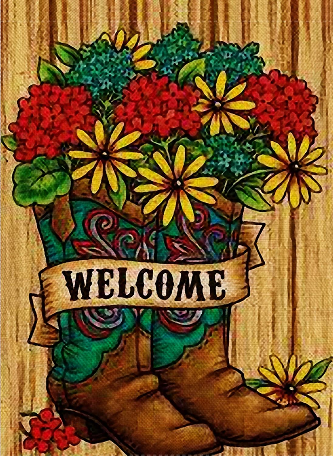 Amazon.com : Dyrenson Home Decorative Outdoor Double Sided Welcome ...