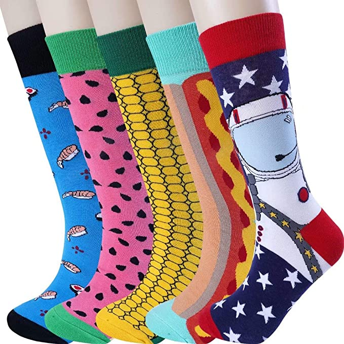 Moyel Mens Novelty Socks, Crazy Funny Fun Cool Dress Socks, Golf Gifts For Men