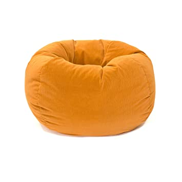 Astounding Gold Medal Bean Bags Small Bean Bag For Children Orange Coduroy Inzonedesignstudio Interior Chair Design Inzonedesignstudiocom