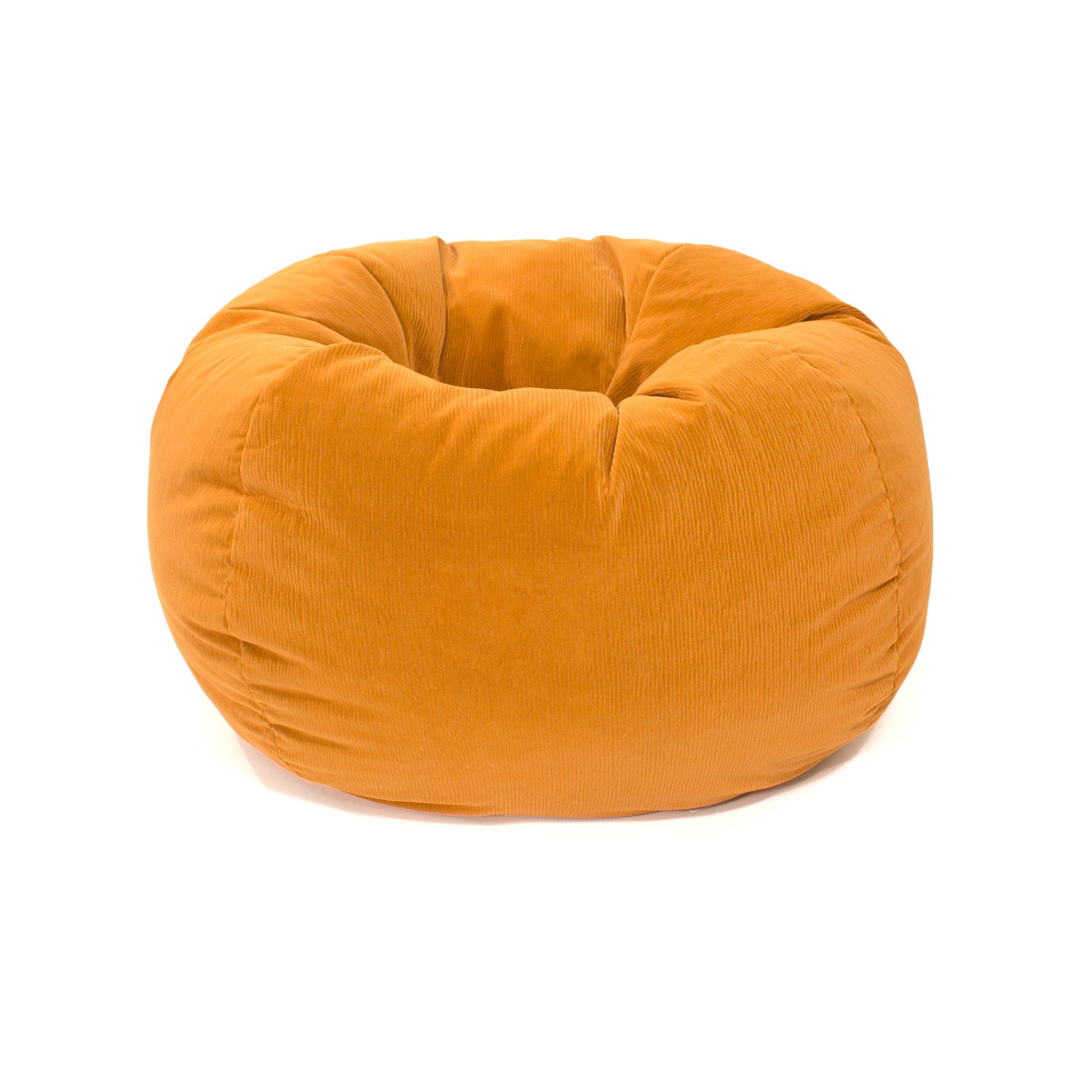 Gold Medal Bean Bags 30008459108 Small Bean Bag for Children, Orange Coduroy