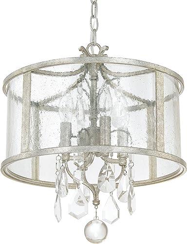 Capital Lighting 9484AS-CR Four Light Pendant