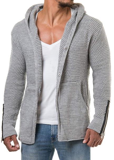 elegantes Aussehen kinder Wählen Sie für echte CARISMA Herren Strickjacke Cardigan Kapuzenpullover Zipper Patches 7221
