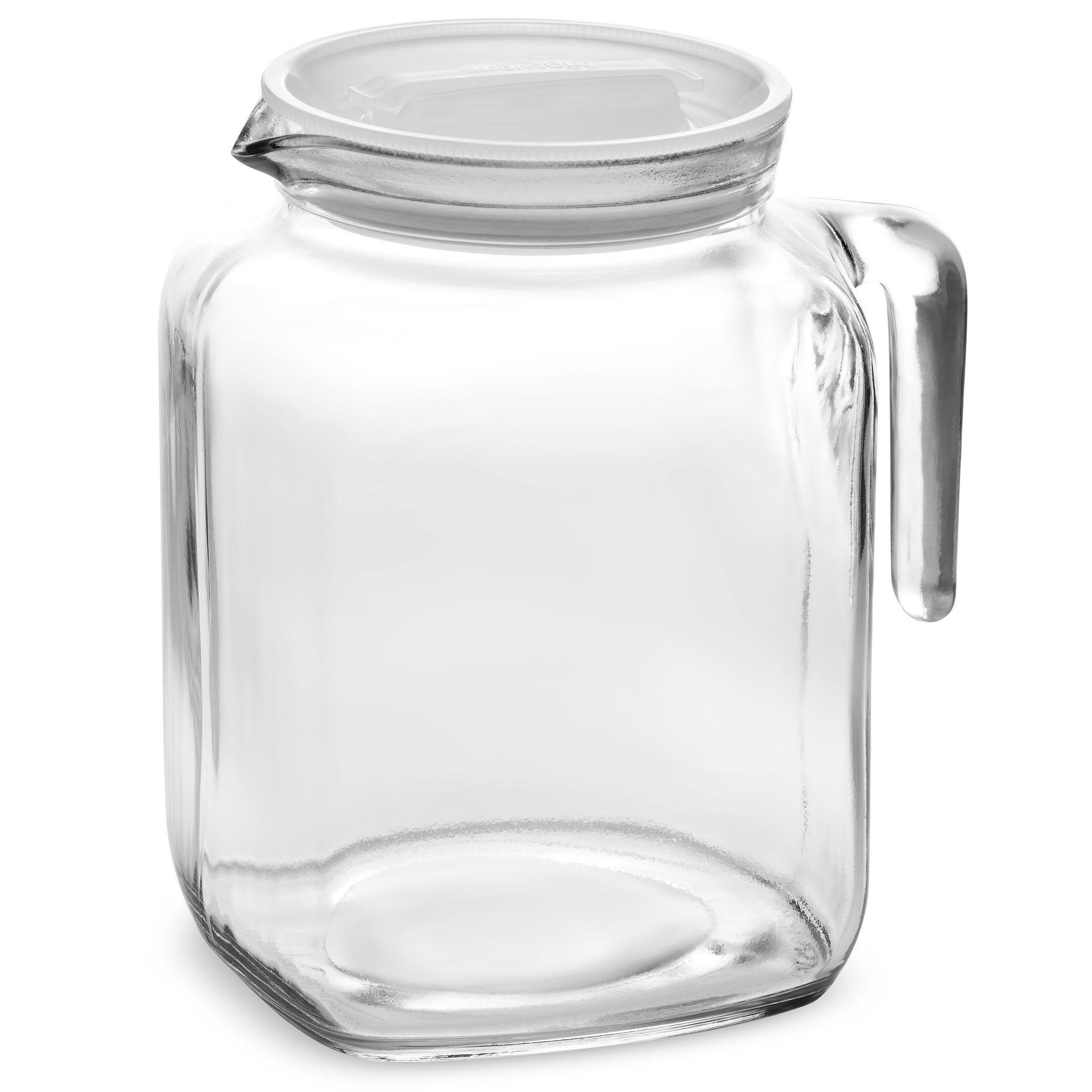 Bormioli Rocco Hermetic Seal Glass Pitcher With Lid and Spout [68 Ounce] Great for Homemade Juice & Iced Tea or for Glass Milk Bottles by Bormioli Rocco (Image #2)