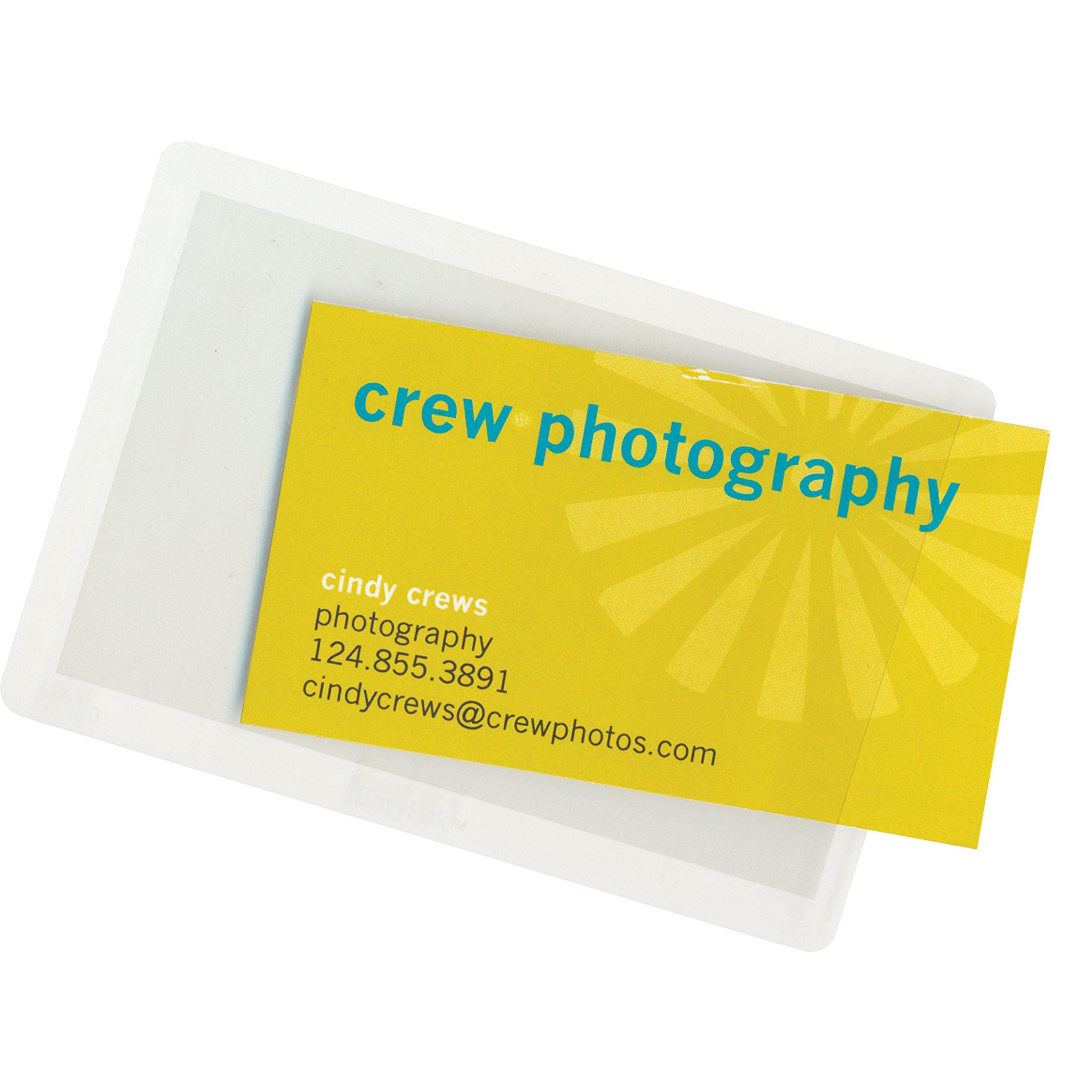 Side Loading Adhesive Backed Business Card Pocket - Box of 2000
