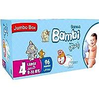 سانيتا بامبي، مقاس 4، كبير، 8-16 كغ، الصندوق الجامبو، 96 حفاض