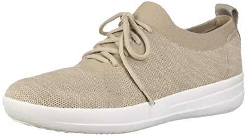 0f2052537 Image Unavailable. Image not available for. Colour  FitFlop Women s  F-Sporty Uberknit Sneakers Dark Taupe Mix ...