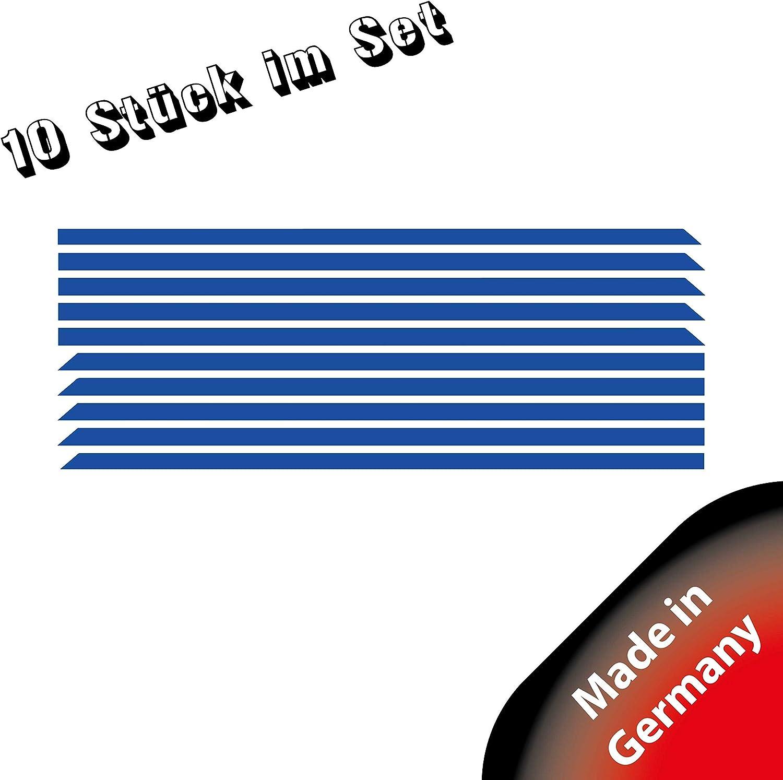 K/ühlergrill Wei/ß 10er-Set Stripes Frontgrill Stripes Sto/ßstangen Folie Designline Folien Set