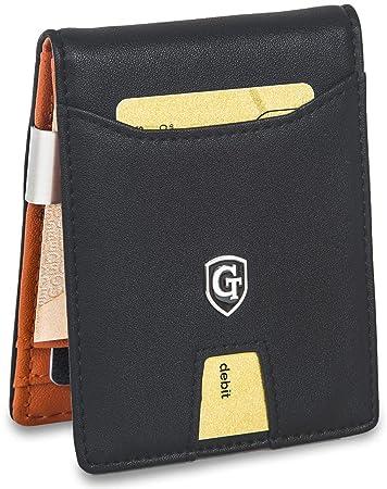 84c5e8078f6b5 GenTo® Herren Designer-Geldbörse Berlin mit Geldklammer und Münzfach -TÜV  geprüfter RFID