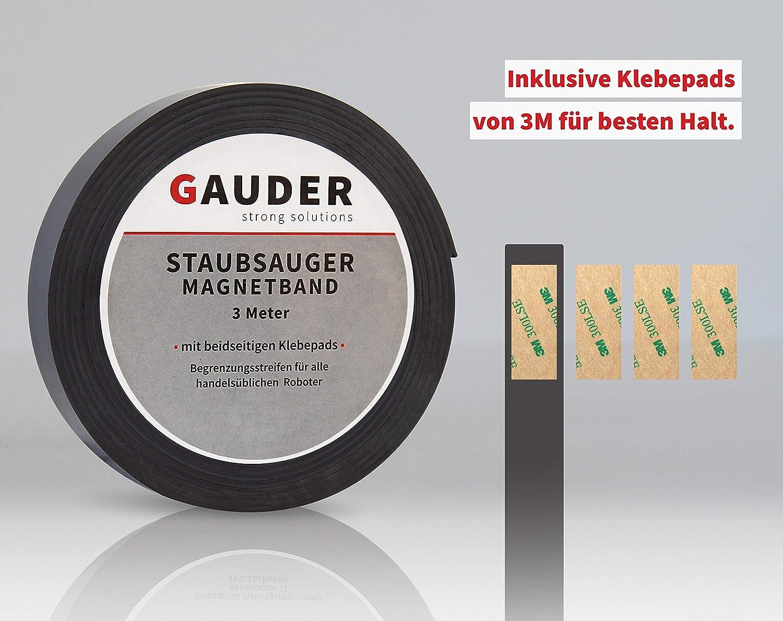 GAUDER Saugroboter Magnetband NEUE VERSION 2019 I passend f/ür Neato Xiaomi Miele Vorwerk Tesvor