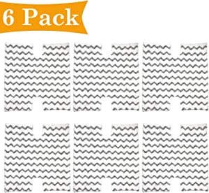 FFsign 6 Pack Replacement Steam Mop Pads for Shark Lift-Away & Genius Steam Mop S3973 S3973D S5002 S5003 S6001 S6002 S6003, 6 Pcs Touch Free Washable Microfiber Pad Compare to Part # XTP184 & P184WQ
