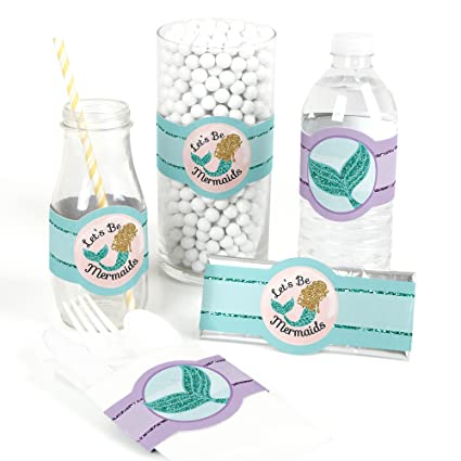 Amazon Com Let S Be Mermaids Diy Party Supplies Baby Shower Or
