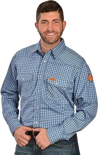 Wrangler Hombre resistente al fuego ligero camisa de trabajo: Amazon.es: Ropa y accesorios