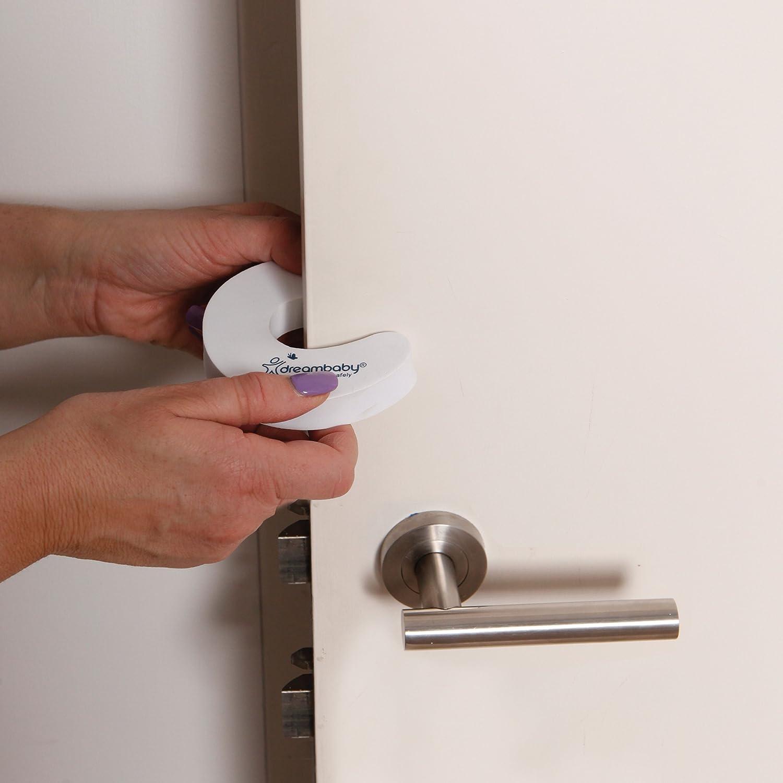 Blanco Tope de seguridad para puerta Dreambaby