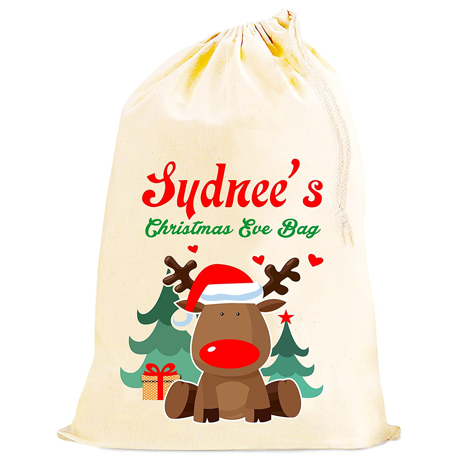 Personalised Christmas Eve Santa sack bag sneaky early presents ...