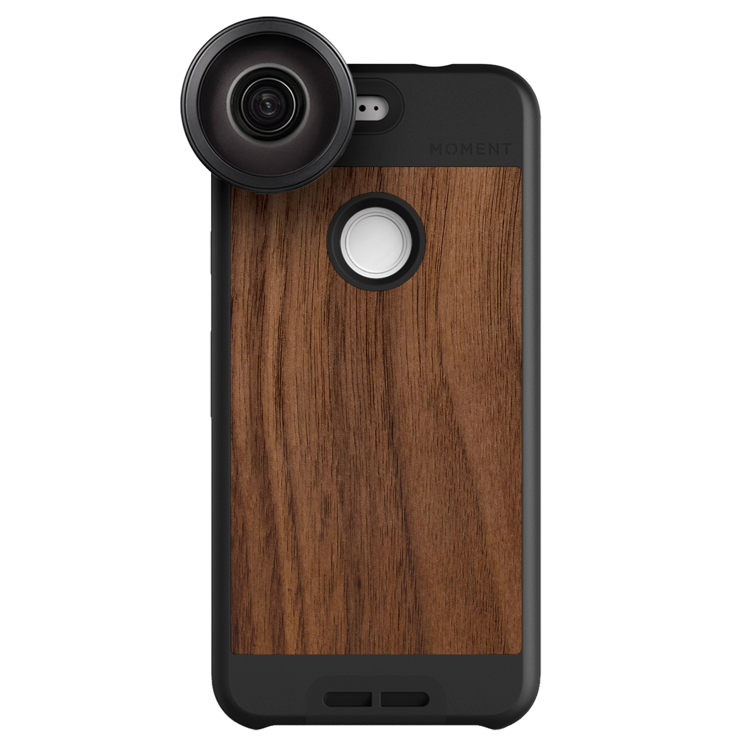 Google Pixel Case with Fisheye Lens Kit    Moment Walnut Wood Photo Case plus Superfish Lens    Best google fisheye attachment lens with thin protective case.