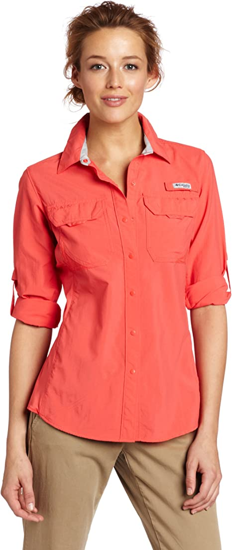 Columbia Ultimate Chill Hybrid Camisa de Manga Larga para Mujer, Mujer, FL7054, Red Coral, Small: Amazon.es: Deportes y aire libre