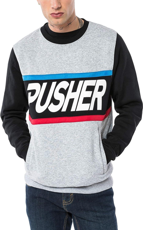Pusher Apparel Herren More Power Sweater Sweatshirt