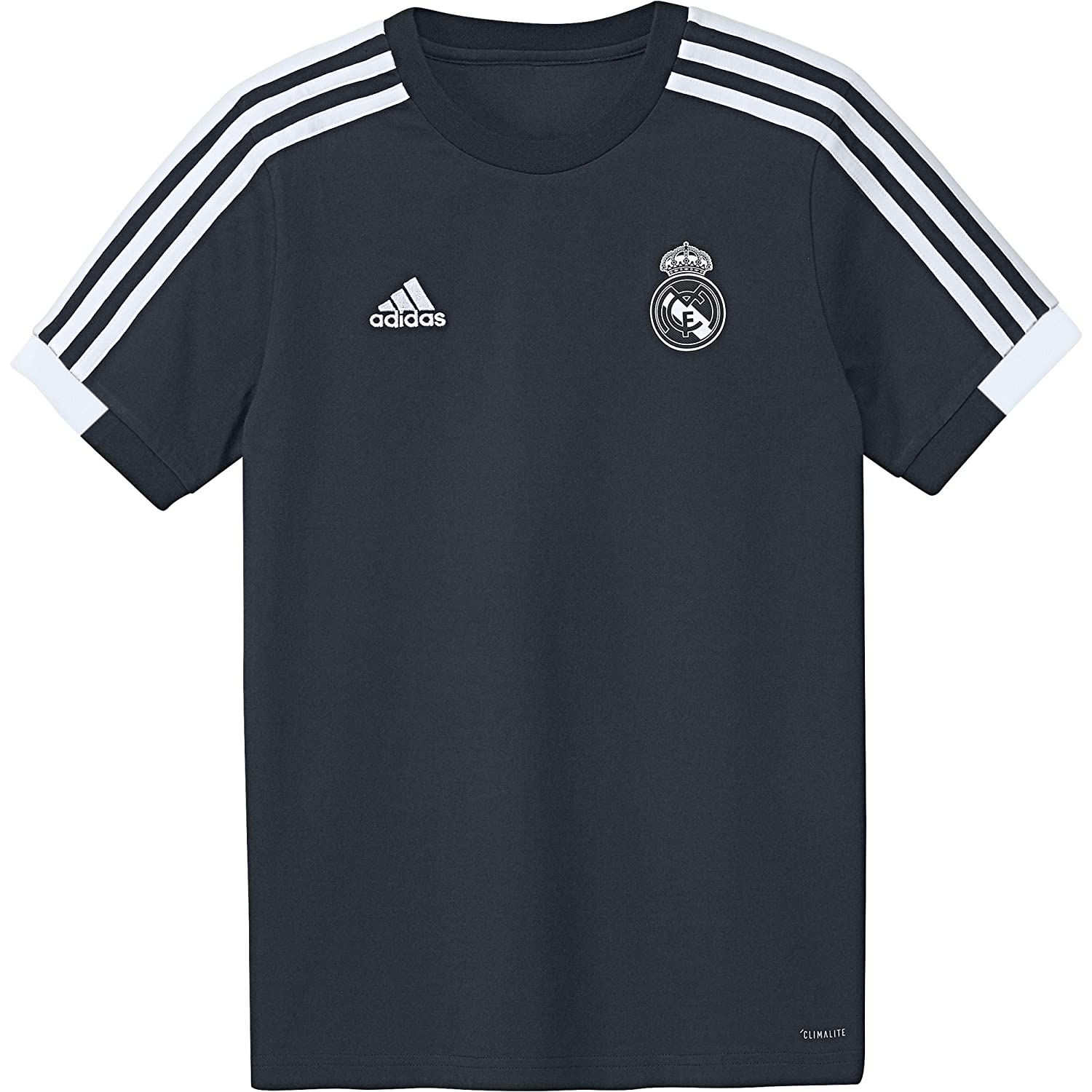 adidas Camiseta Real Madrid 2018-2019 Niño Tech onix-Black-Core white   Amazon.es  Deportes y aire libre 5b1e7abb7d032
