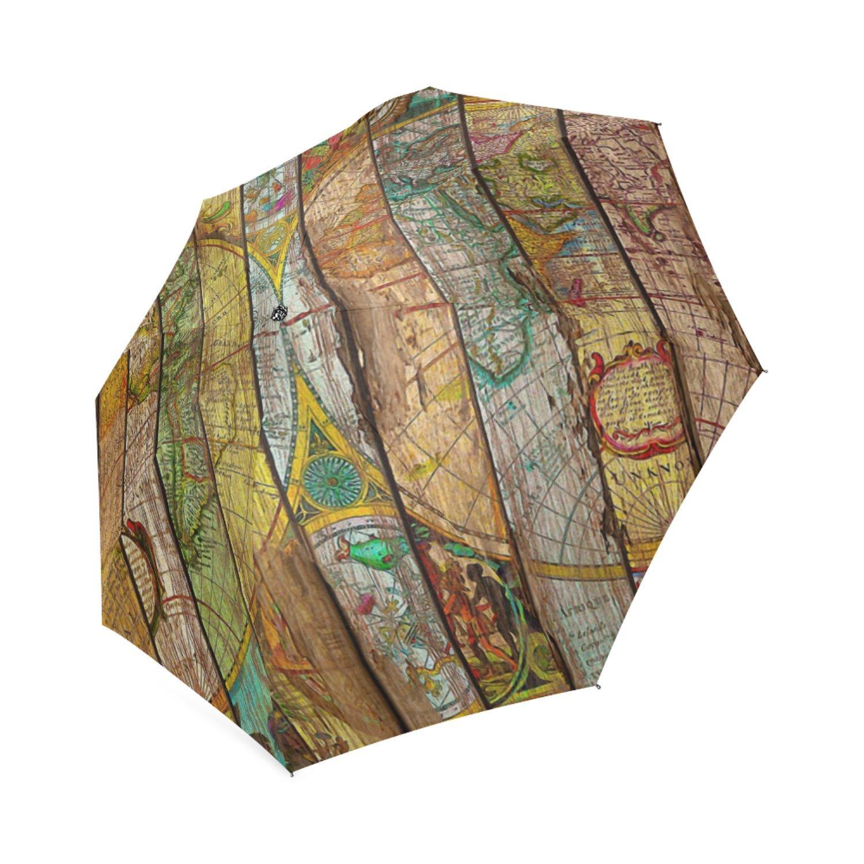 beautytool Around the Worldカスタム折りたたみ式雨傘 B0776NWSM1