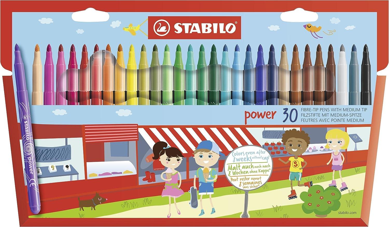 STABILO power Pennarelli colori assortiti - Confezione da 30 015188