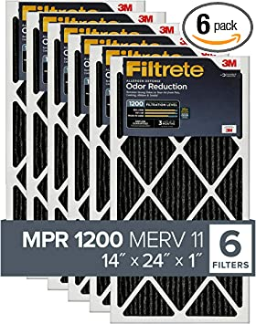 Nordic Pure 16x24x1 MPR 1085 Pleated Micro Allergen Extra Reduction Replacement AC Furnace Air Filters 4 Pack,