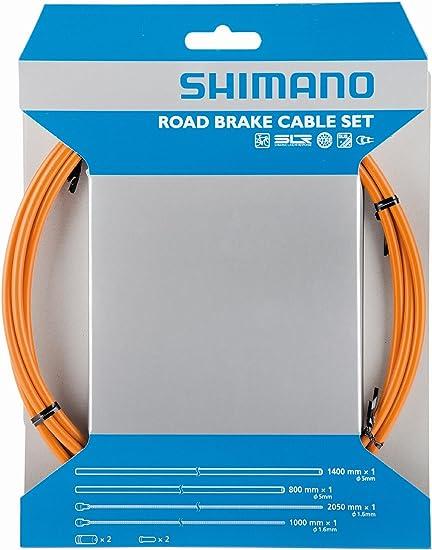 SHIMANO ROAD PTFE ROAD BIKE BICYCLE RED BRAKE CABLE KIT W// HOUSING