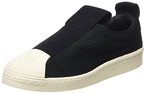 black adidas slip ons