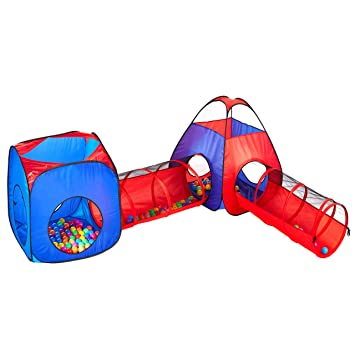 Autop Kids Play Tents With Tunnel SetPortable Outdoor/Indoor Children Castle Playhouse Ball  sc 1 st  Amazon.com & Amazon.com: Autop Kids Play Tents With Tunnel SetPortable Outdoor ...