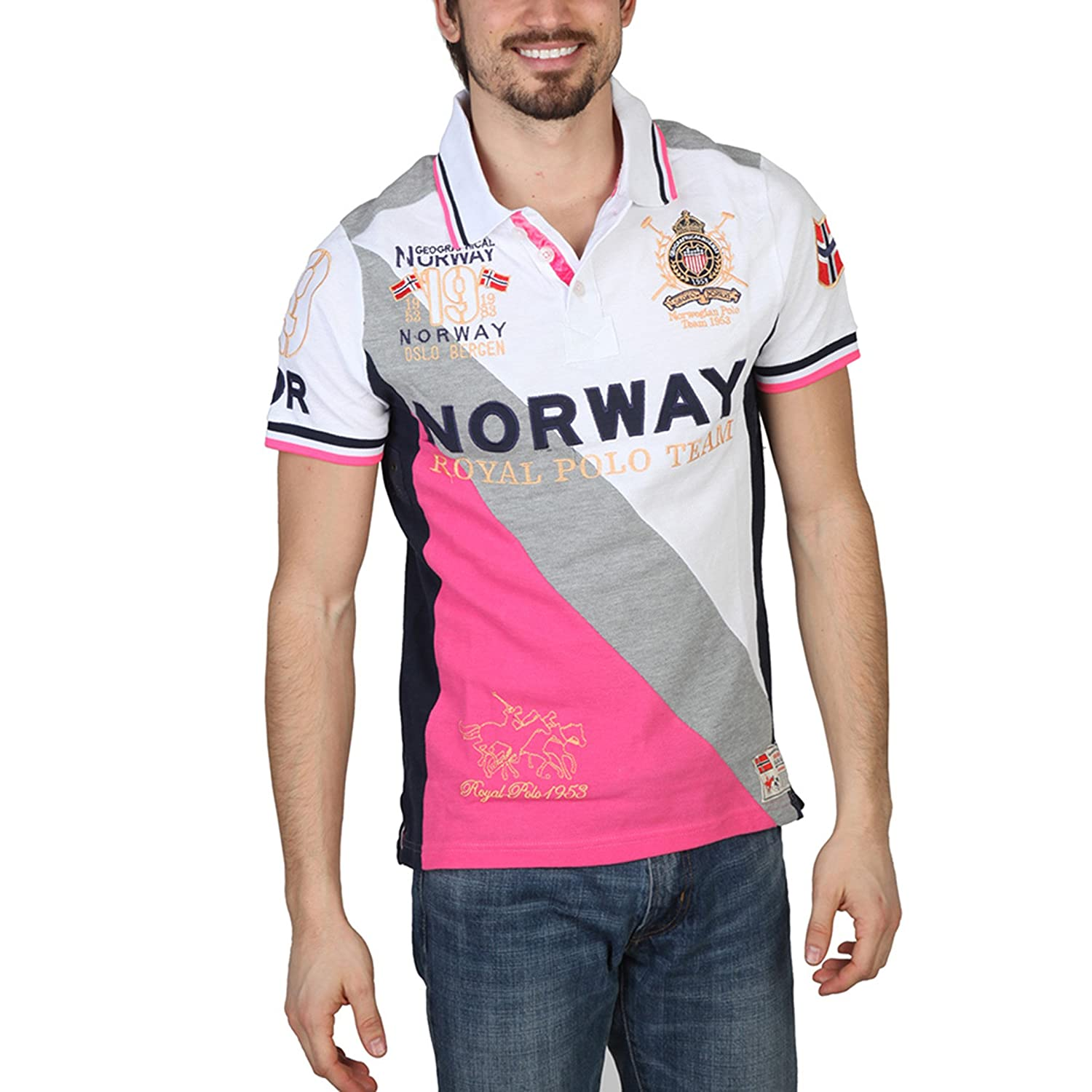 Polo Geographical Norway Korway man blanquecino - hombre - L ...