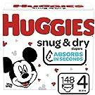 Huggies Snug & Dry Baby Diapers, Size 4, 148 Ct