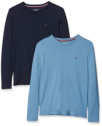 239bef5d Amazon.com: Tommy Hilfiger 2-Pack Long-Sleeve Jersey Boys T-Shirts, Blue/ Navy: Clothing