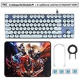 Typewriter Retro Mechanical Gaming Keyboard 87
