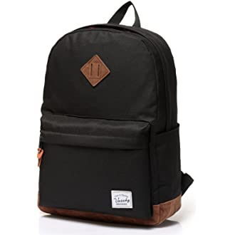 #11 Vaschy Unisex Classic Water Resistant School Backpack Fits 14Inch Laptop