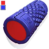 Muscle Foam Roller - Revolutionary Textured Grid Exercises & Massages Muscles - Super High Density EVA Provides Deep Tissue Massage for Back, IT Band, Legs & Arms …