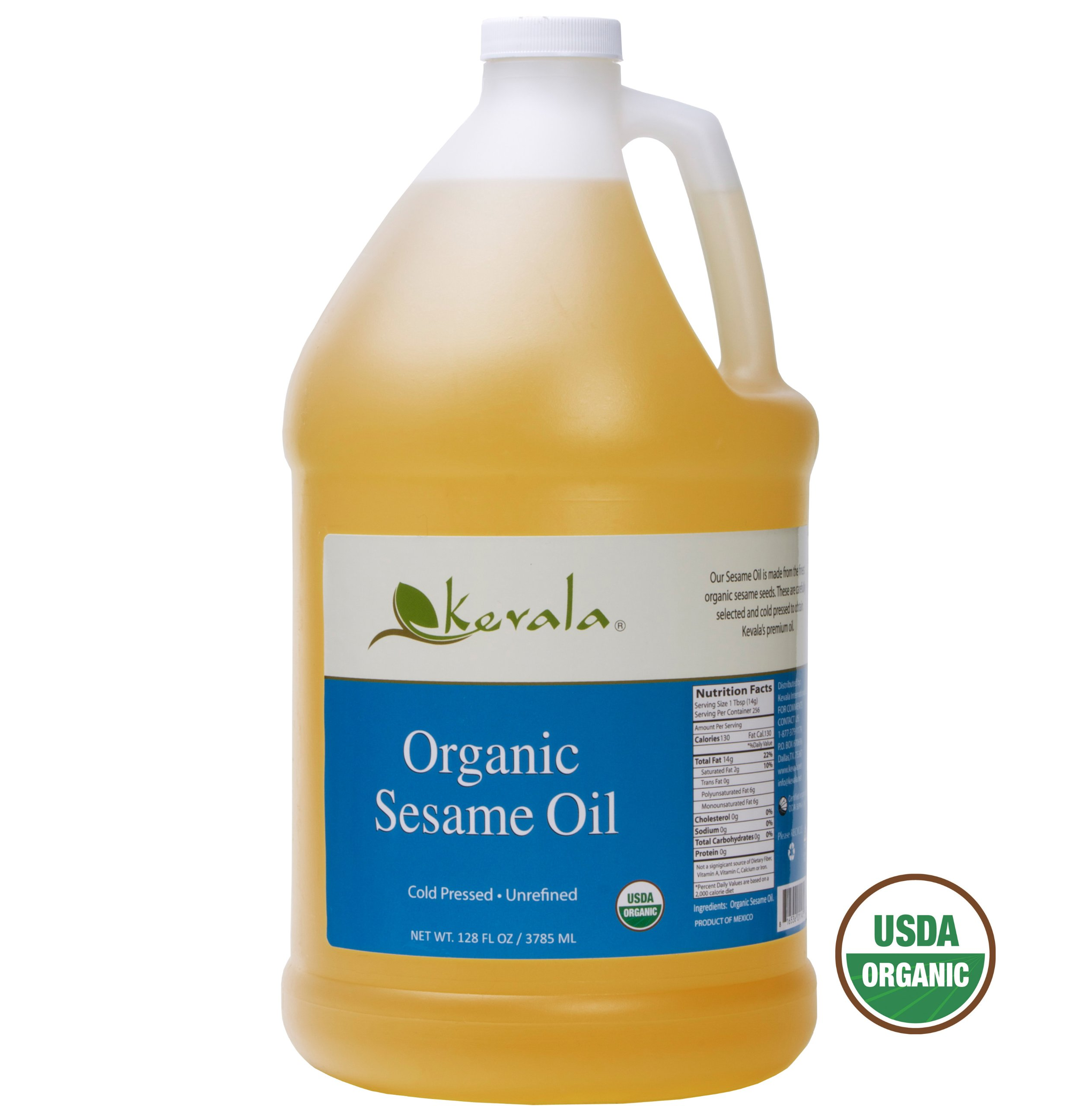 Kevala Organic Sesame Oil, 128 Fluid Ounce by Kevala