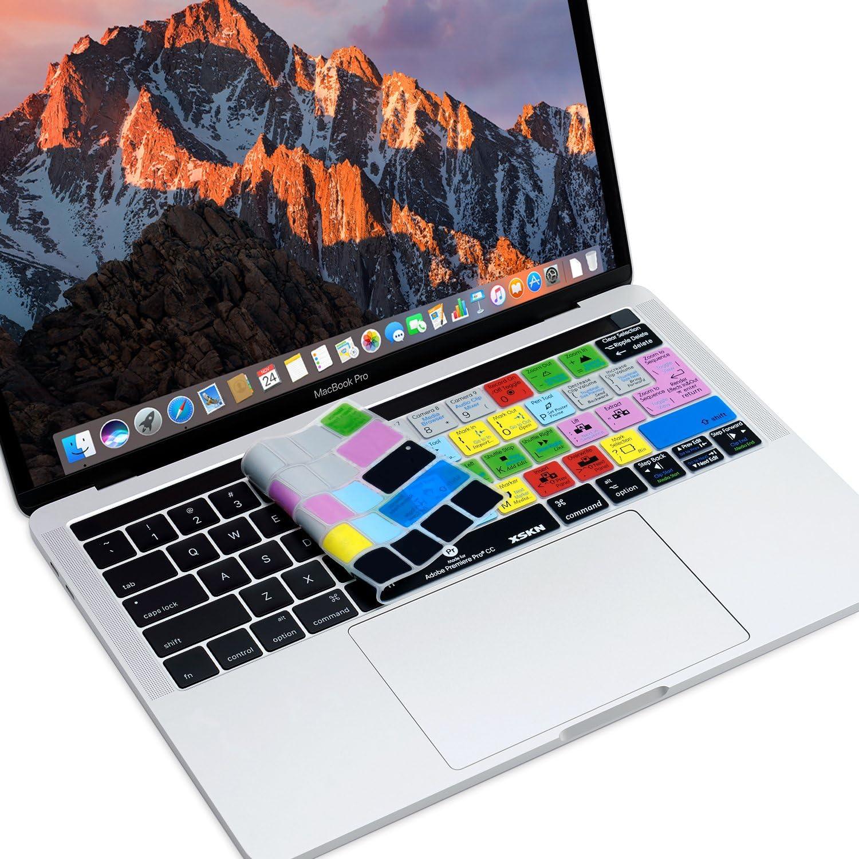 XSKN Adobe Premiere Pro - Funda de silicona para teclado de Apple Multi Touch Bar MacBook de 13 pulgadas/15 pulgadas (A1706 y A1989, A1707 y A1990), ...